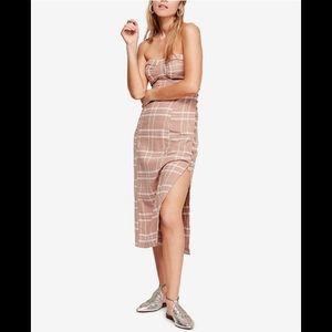Free People-Life Like This Strapless Midi Dress